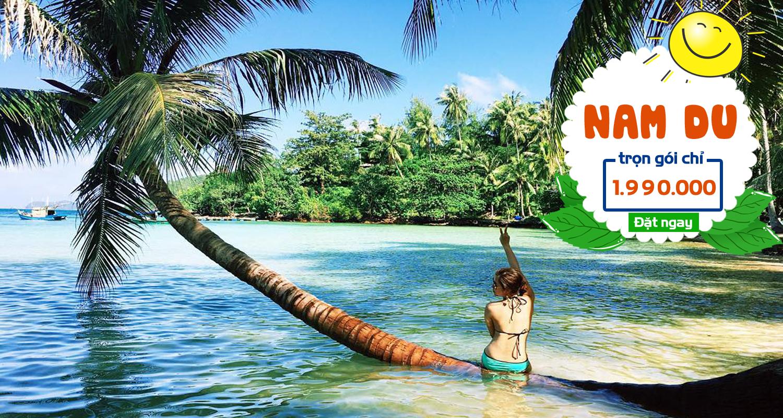 """Đảo Nam Du (Kiên Giang) được ví như """"viên ngọc thô"""" giữa biển, là điểm đến cho dân phượt muốn chiêm ngưỡng vẻ đẹp hoang sơ, quyến rũ của vùng biển phía Tây Nam Tổ quốc."""