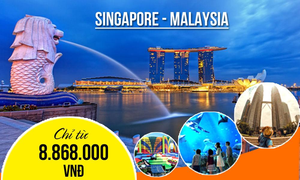 KH tháng 7 - Tour Singapore Malaysia 5 ngày 4 đêm 11.990.000 giảm còn 8.868.000